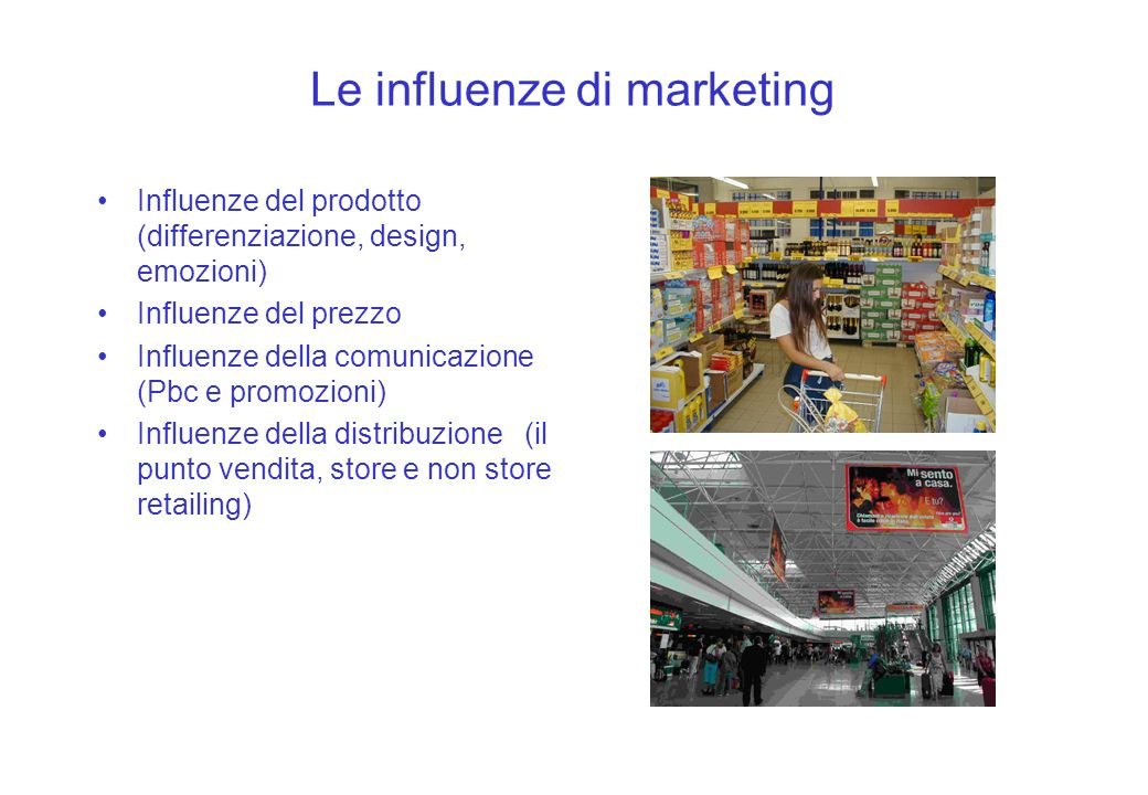 Le influenze di marketing