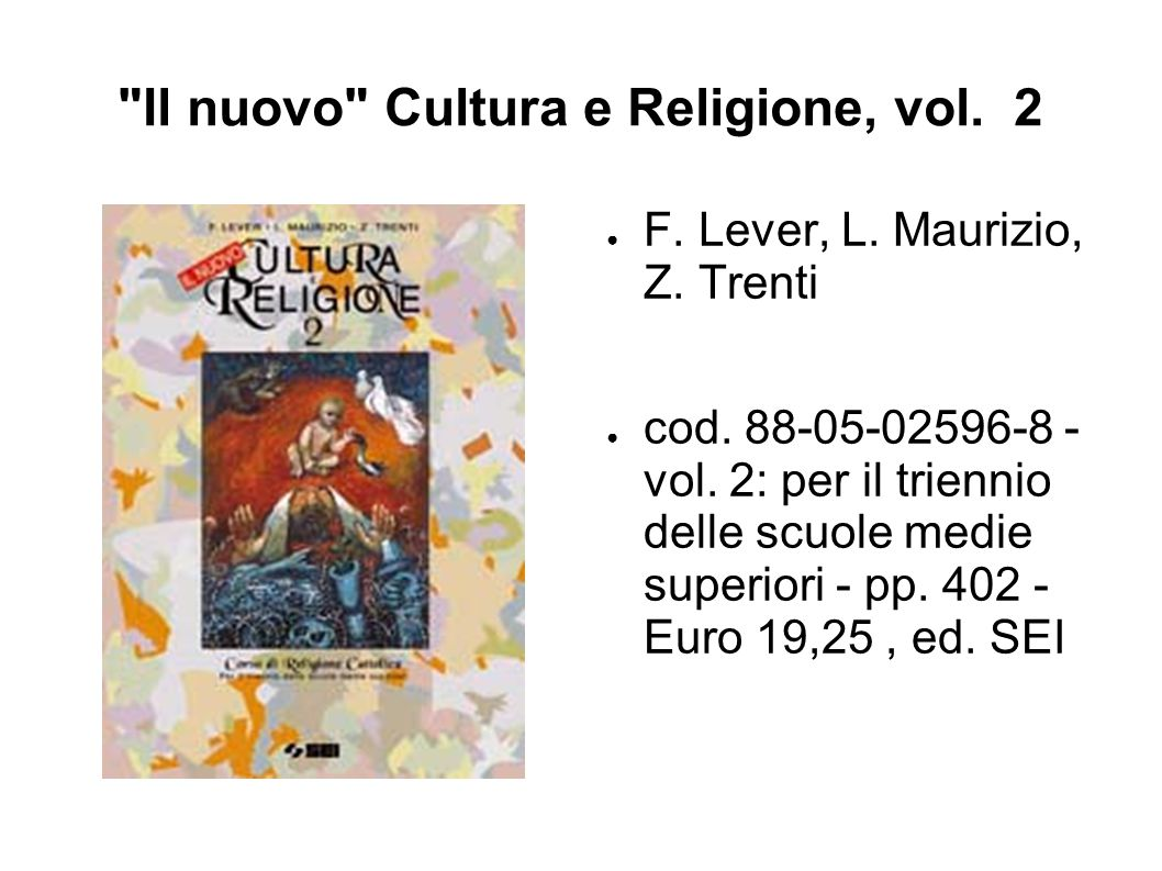 Il nuovo Cultura e Religione, vol. 2