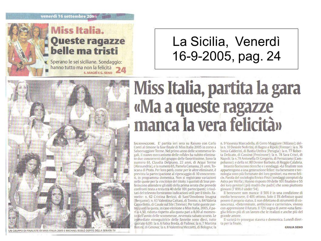 La Sicilia, Venerdì 16-9-2005, pag. 24
