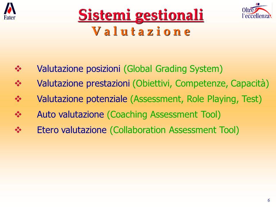 Sistemi gestionali V a l u t a z i o n e