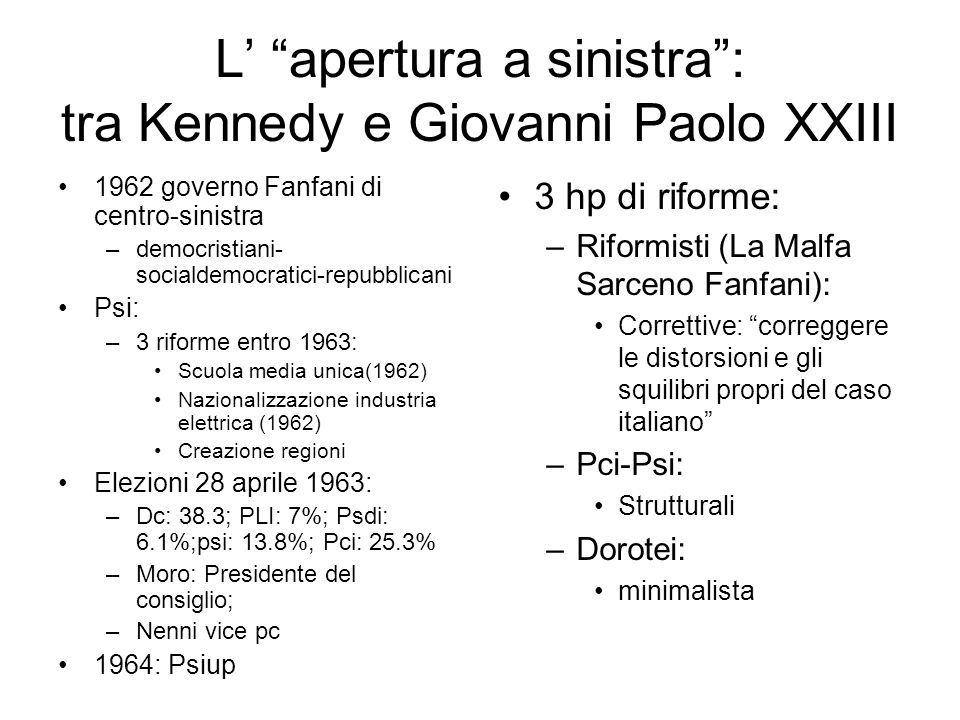 L' apertura a sinistra : tra Kennedy e Giovanni Paolo XXIII