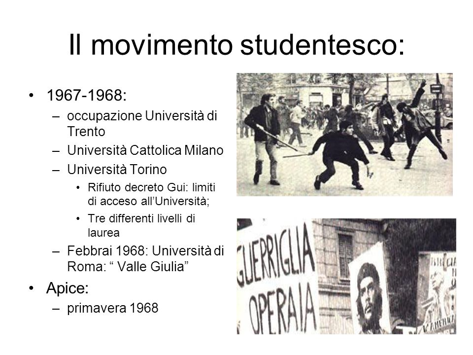 Il movimento studentesco: