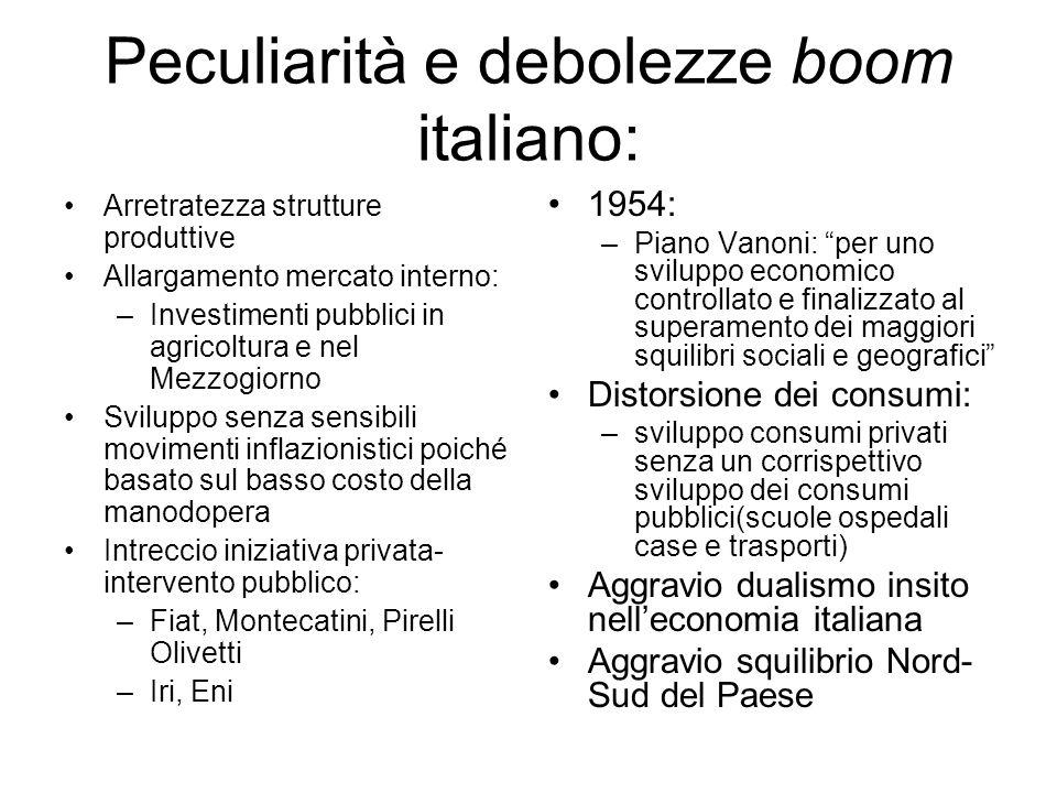 Peculiarità e debolezze boom italiano: