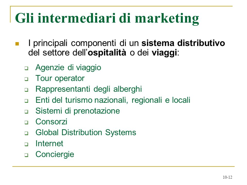 Gli intermediari di marketing