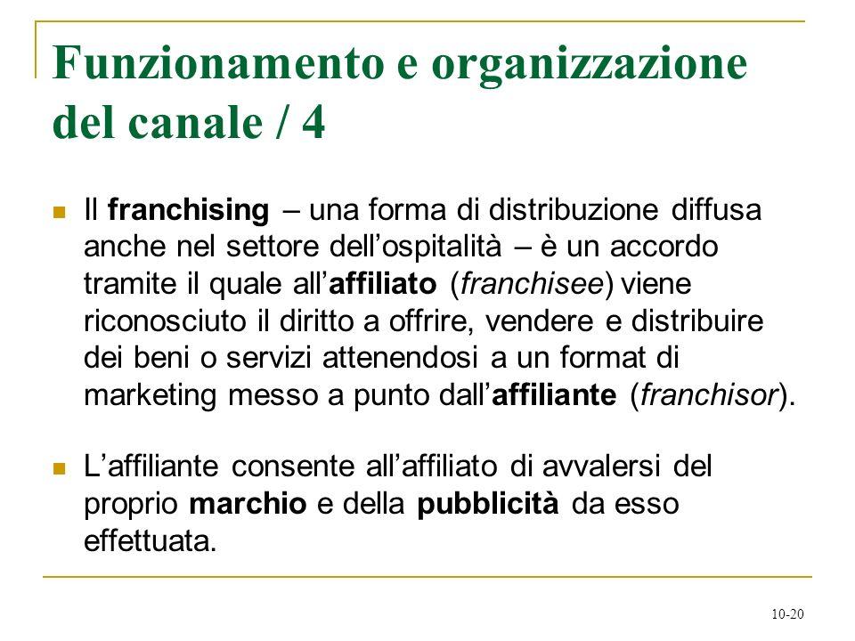 Funzionamento e organizzazione del canale / 4