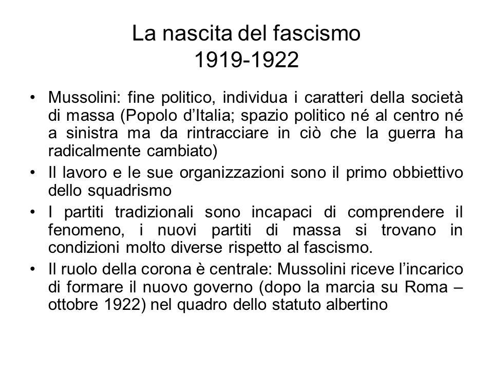 La nascita del fascismo 1919-1922