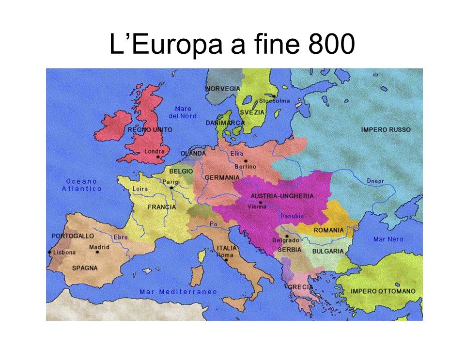 L'Europa a fine 800