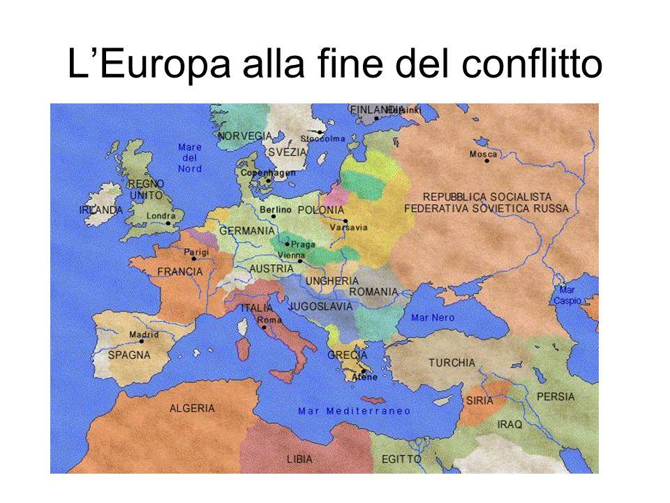 L'Europa alla fine del conflitto