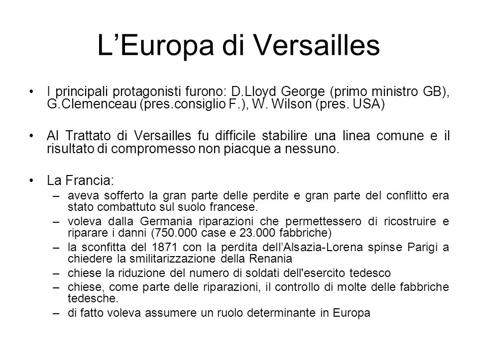 L'Europa di Versailles