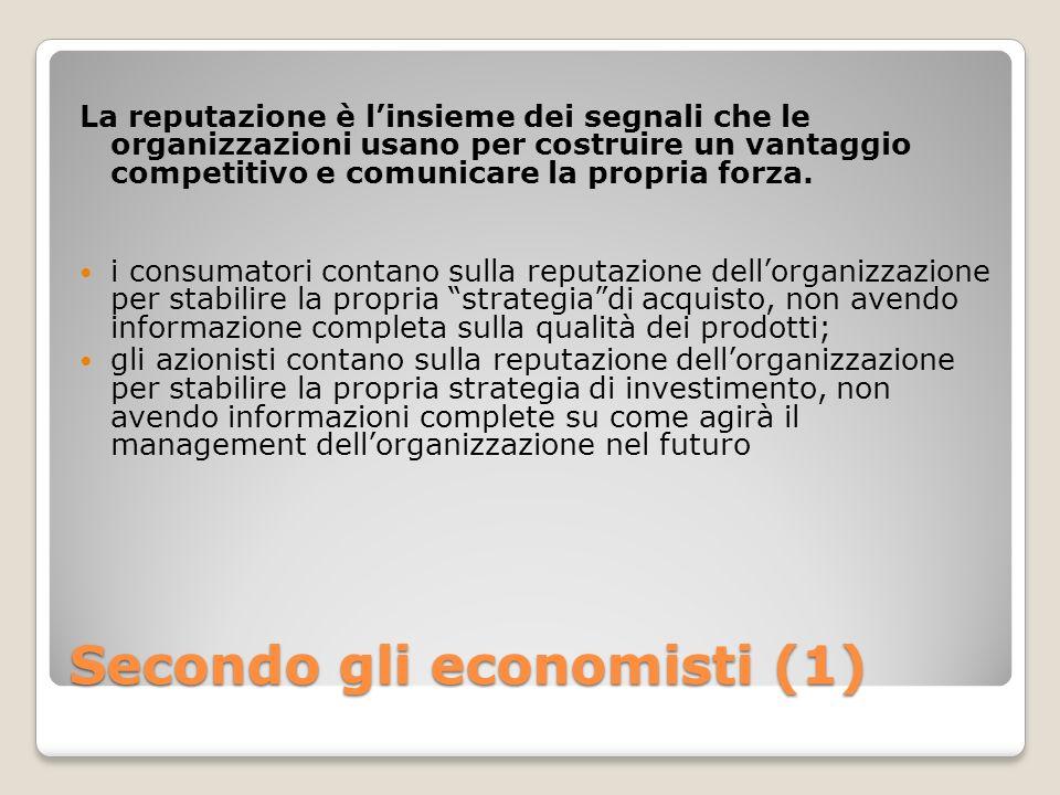 Secondo gli economisti (1)