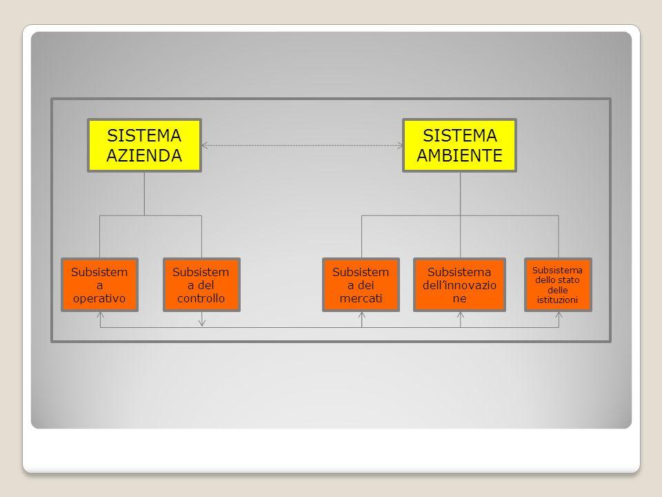 SISTEMA AZIENDA SISTEMA AMBIENTE Subsistema operativo