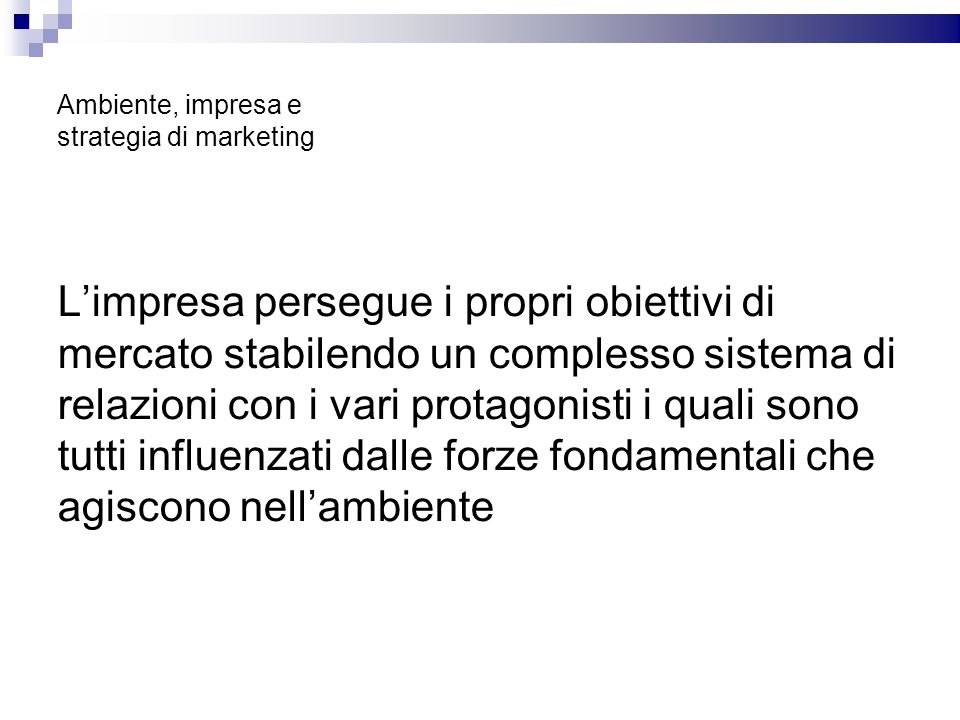 Ambiente, impresa e strategia di marketing