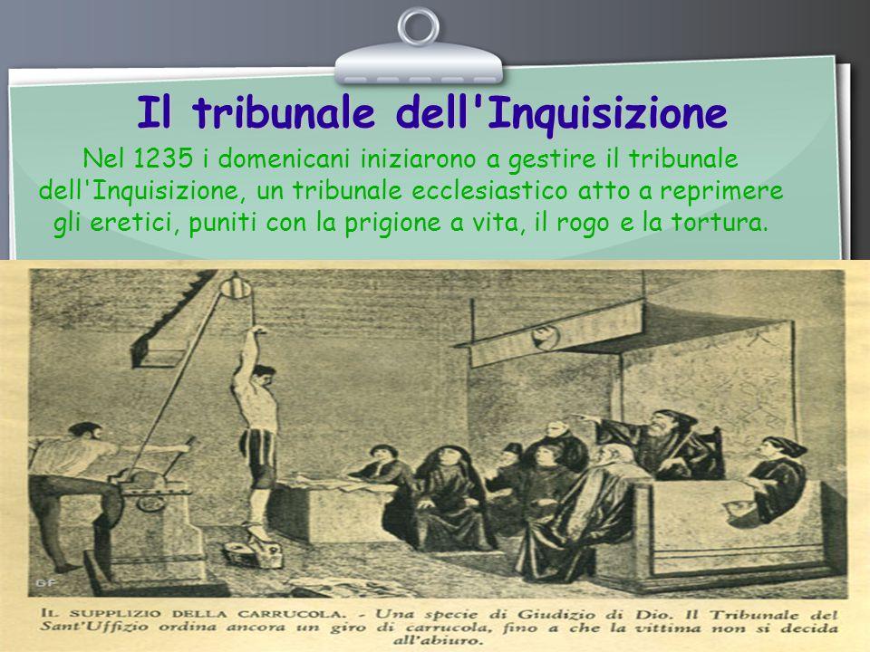 Il tribunale dell Inquisizione