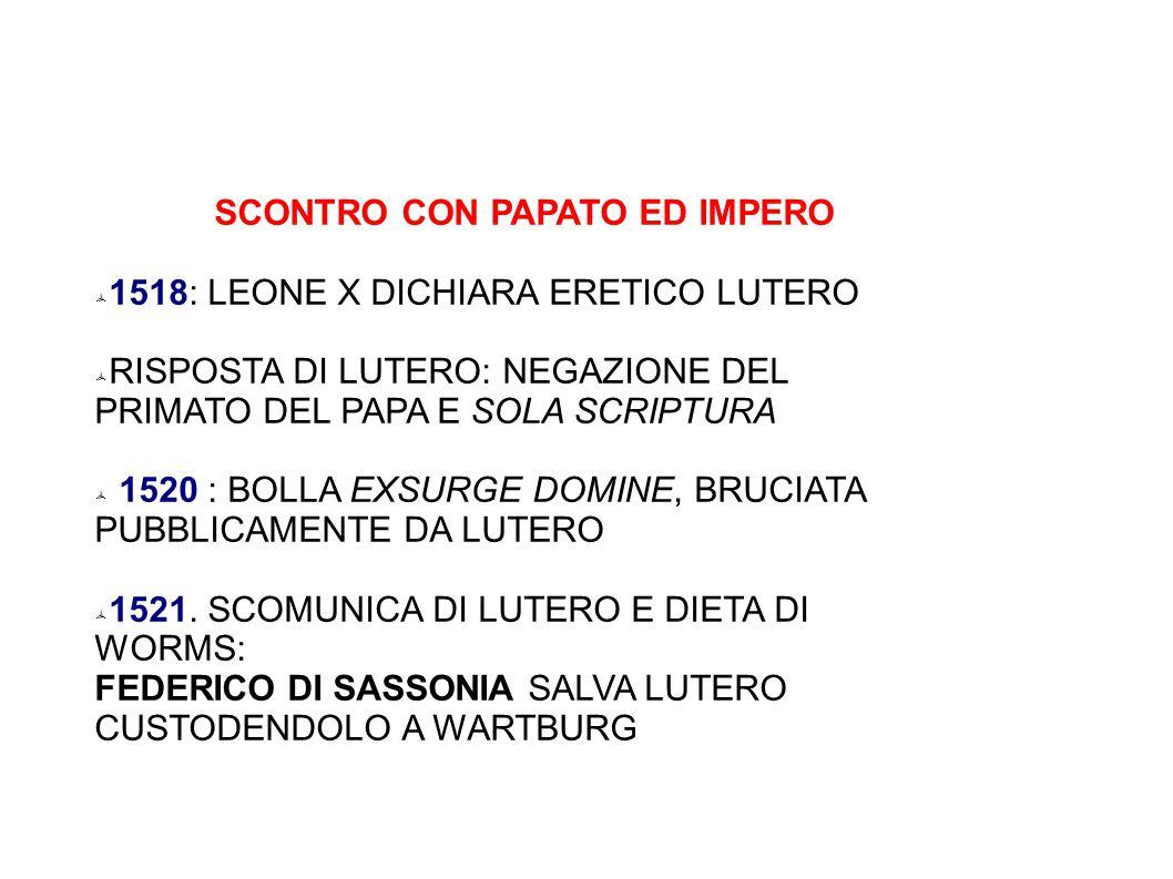 SCONTRO CON PAPATO ED IMPERO