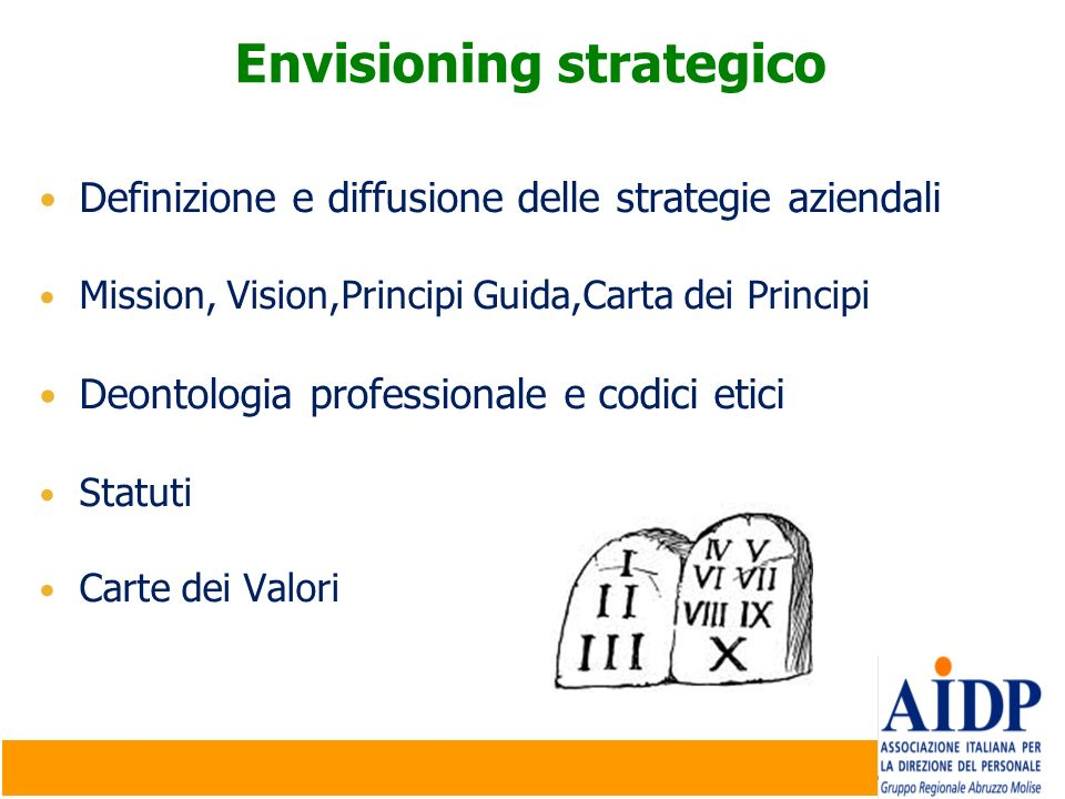 Envisioning strategico