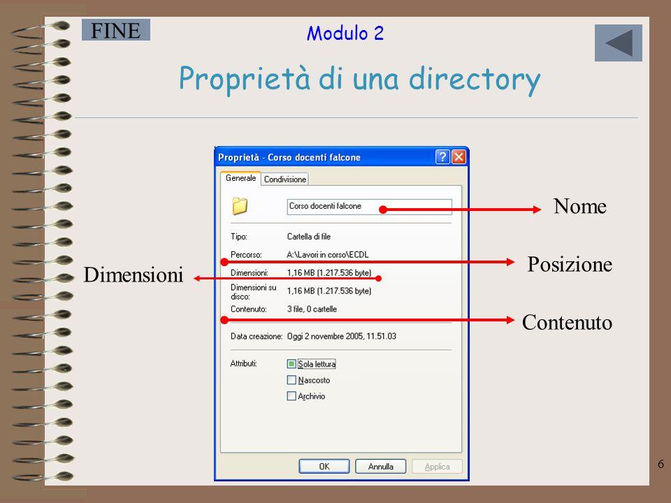 Proprietà di una directory