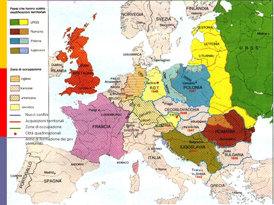 Nuovi confini Acquisizioni territoriali. Zone di occupazione.