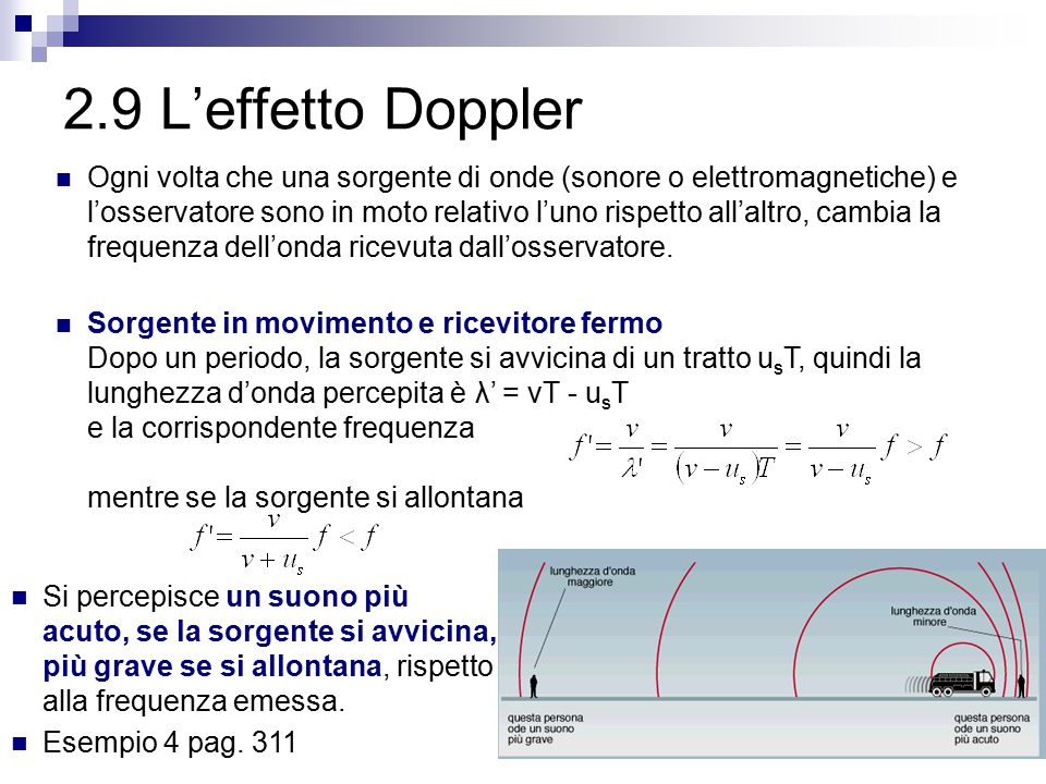 2.9 L'effetto Doppler