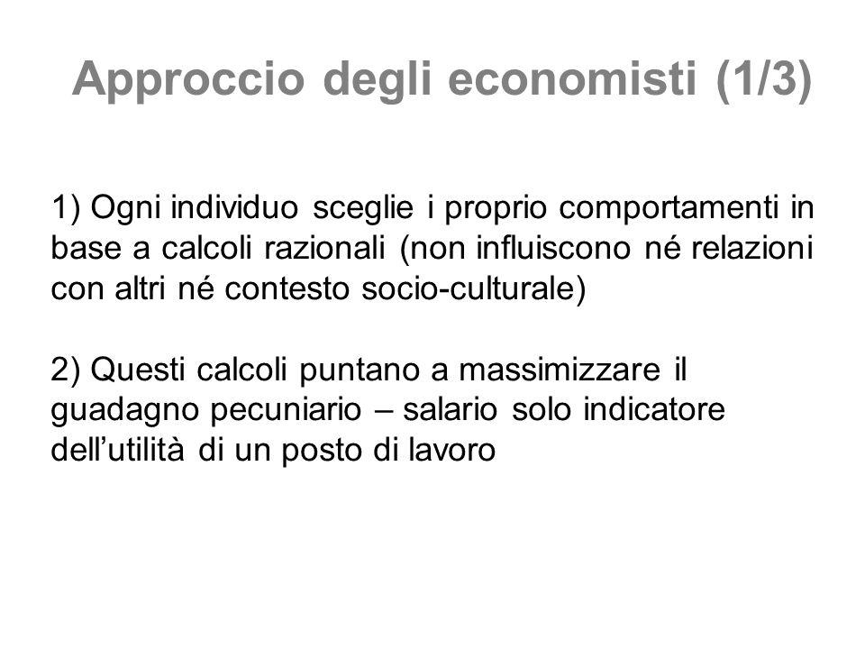 Approccio degli economisti (1/3)