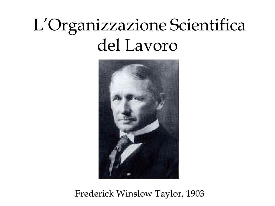 L'Organizzazione Scientifica del Lavoro
