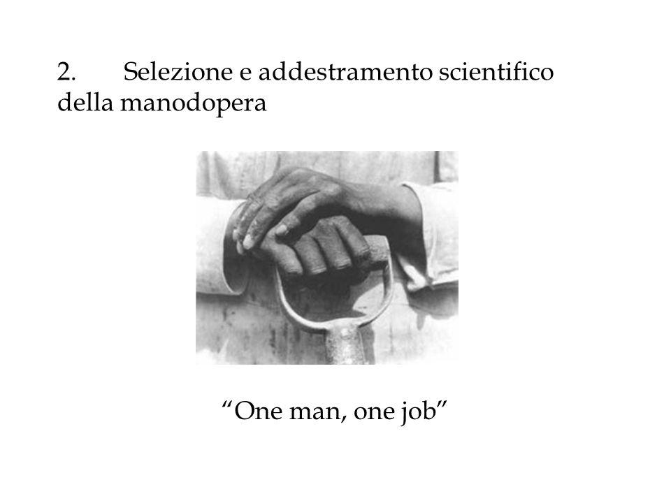 2. Selezione e addestramento scientifico della manodopera