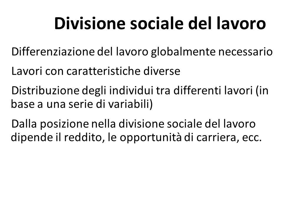 Divisione sociale del lavoro