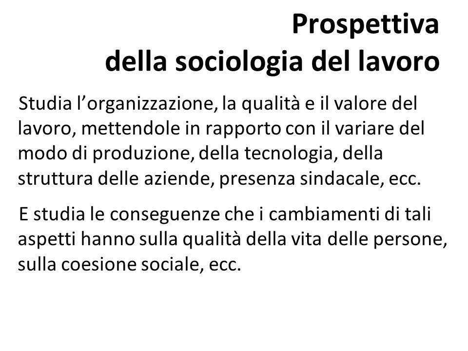 Prospettiva della sociologia del lavoro