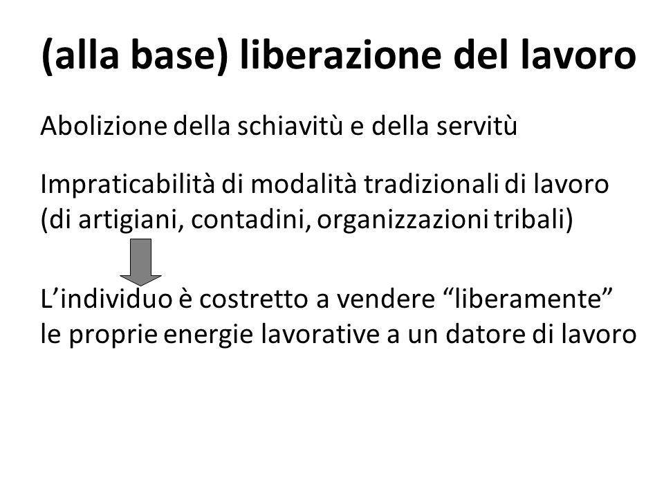 (alla base) liberazione del lavoro