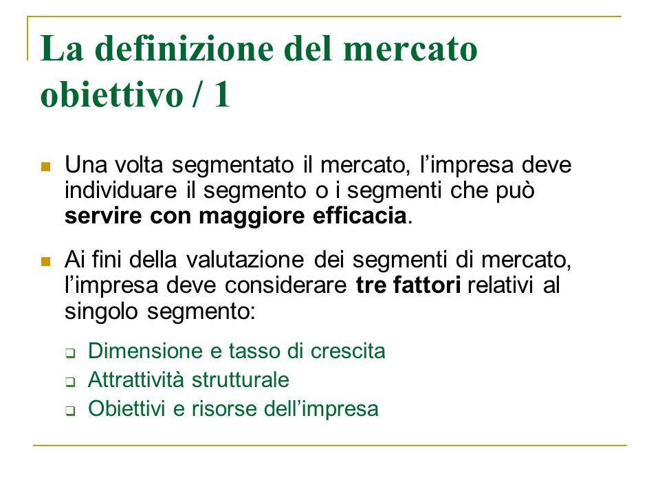 La definizione del mercato obiettivo / 1