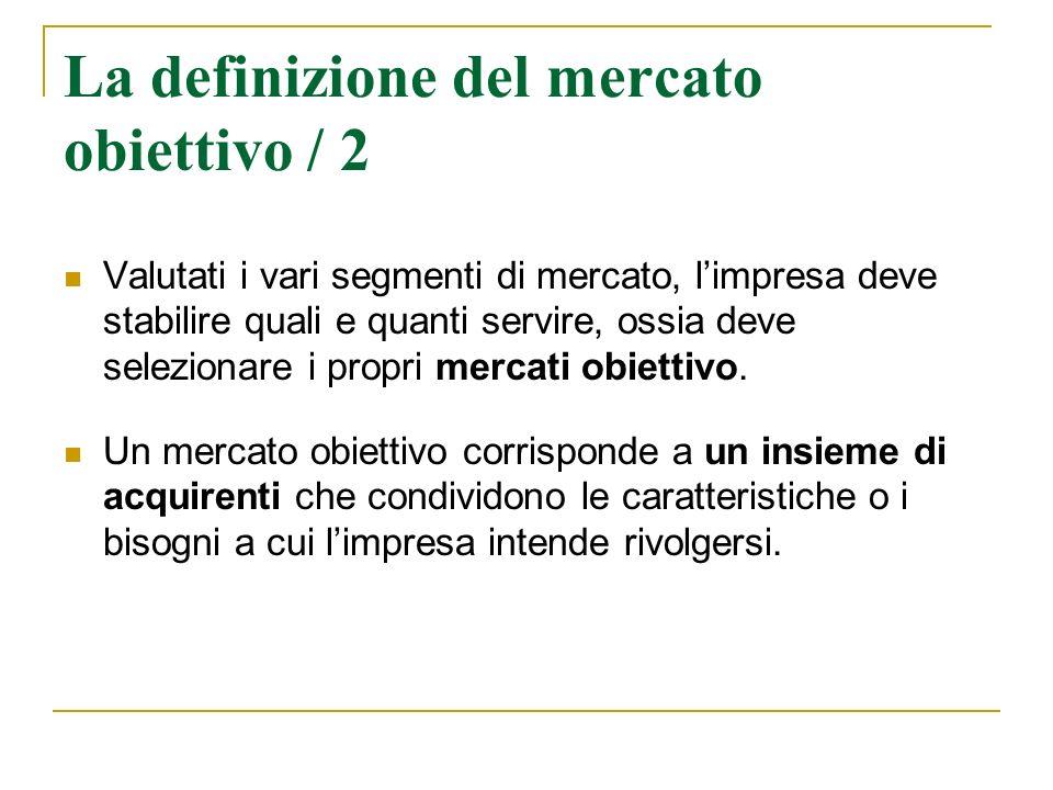 La definizione del mercato obiettivo / 2