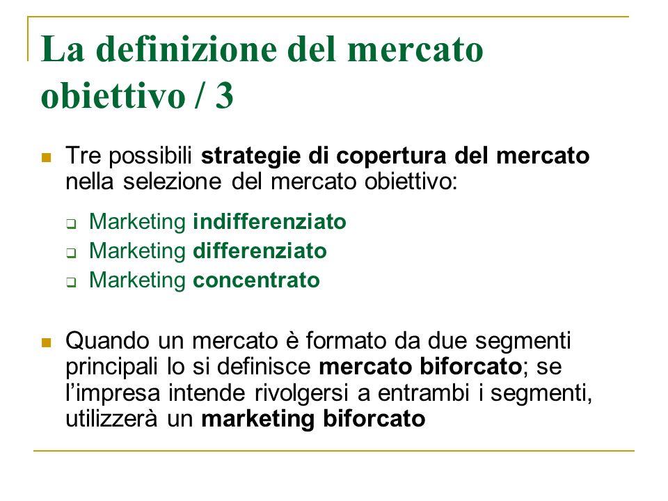 La definizione del mercato obiettivo / 3
