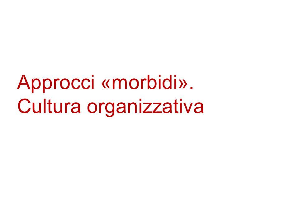 Approcci «morbidi». Cultura organizzativa