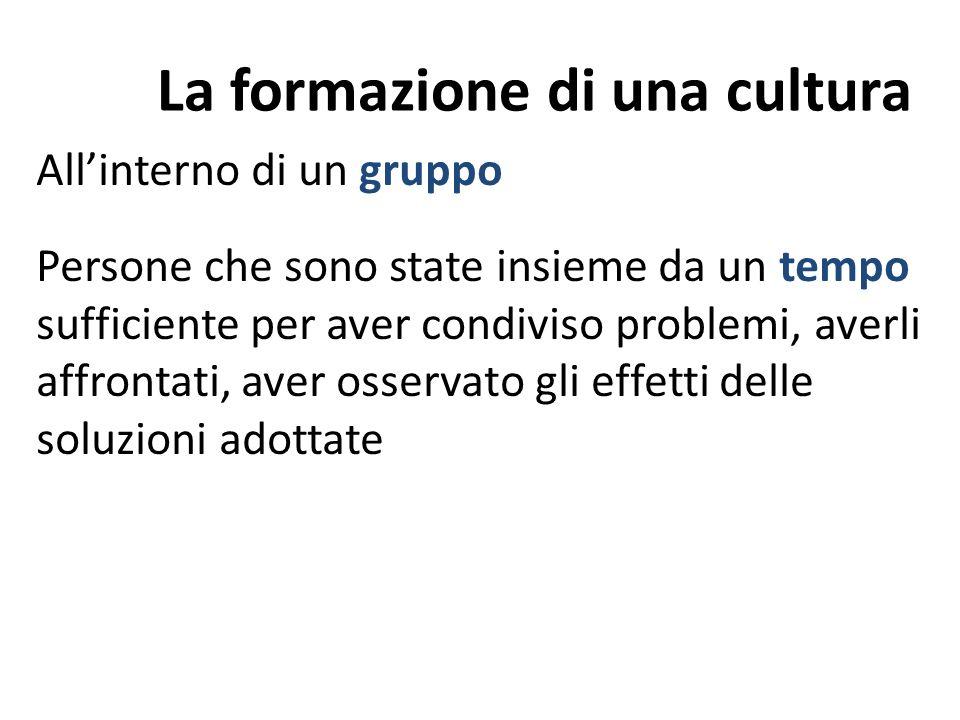 La formazione di una cultura