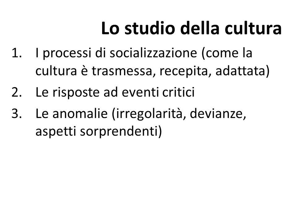 Lo studio della cultura