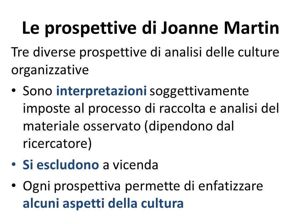 Le prospettive di Joanne Martin