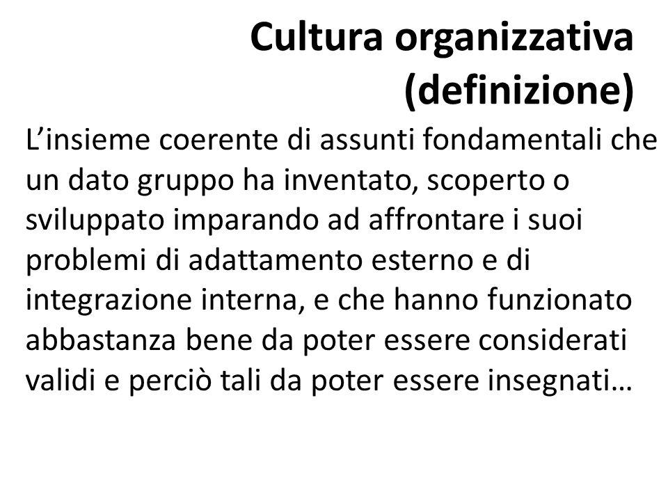 Cultura organizzativa (definizione)