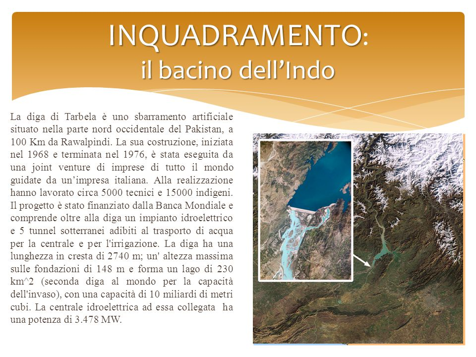 INQUADRAMENTO: il bacino dell'Indo