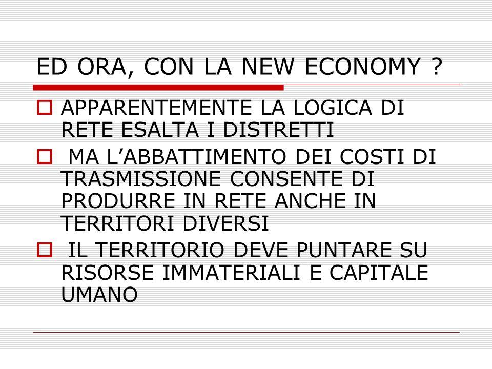 ED ORA, CON LA NEW ECONOMY