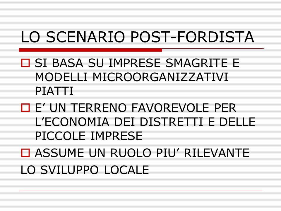 LO SCENARIO POST-FORDISTA