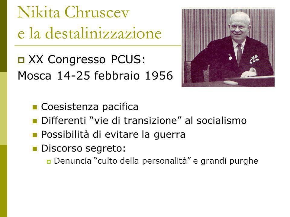 Nikita Chruscev e la destalinizzazione