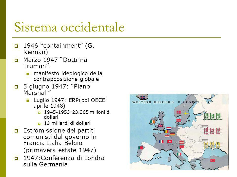 Sistema occidentale 1946 containment (G. Kennan)