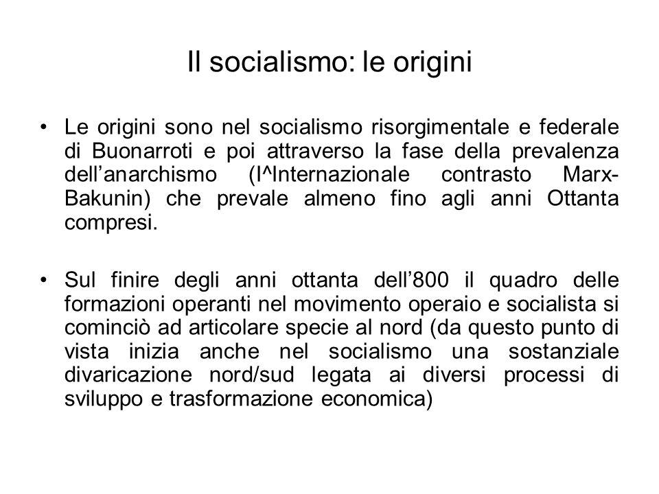 Il socialismo: le origini