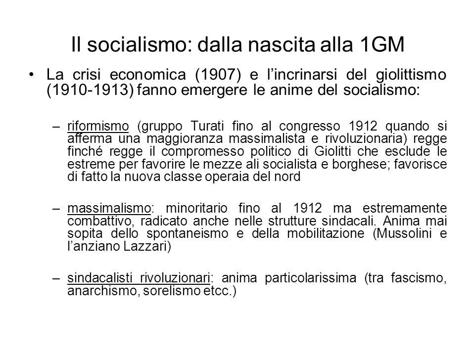 Il socialismo: dalla nascita alla 1GM