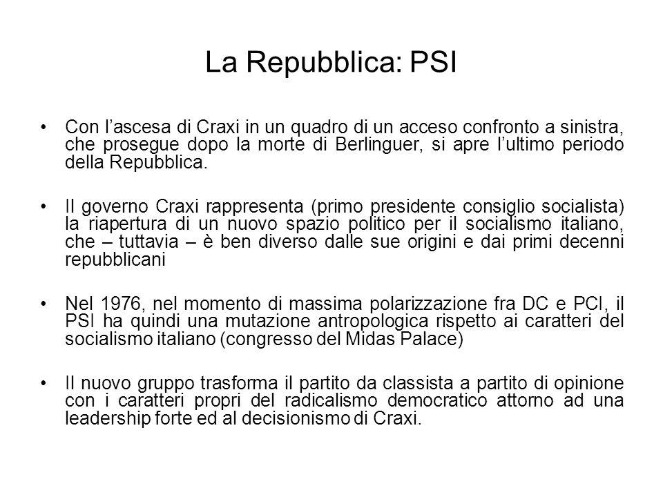 La Repubblica: PSI