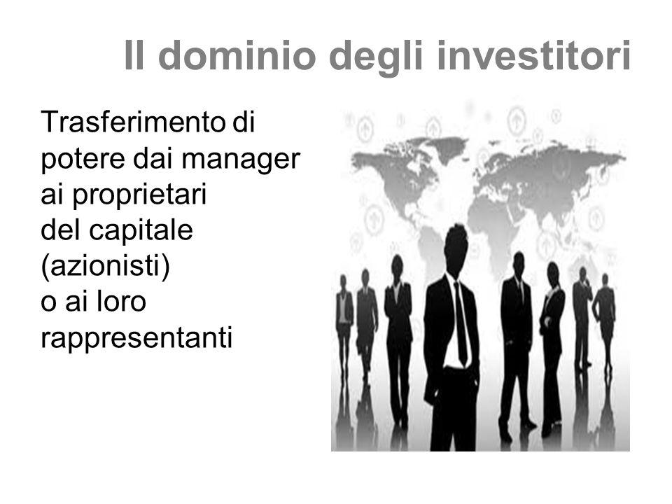 Il dominio degli investitori
