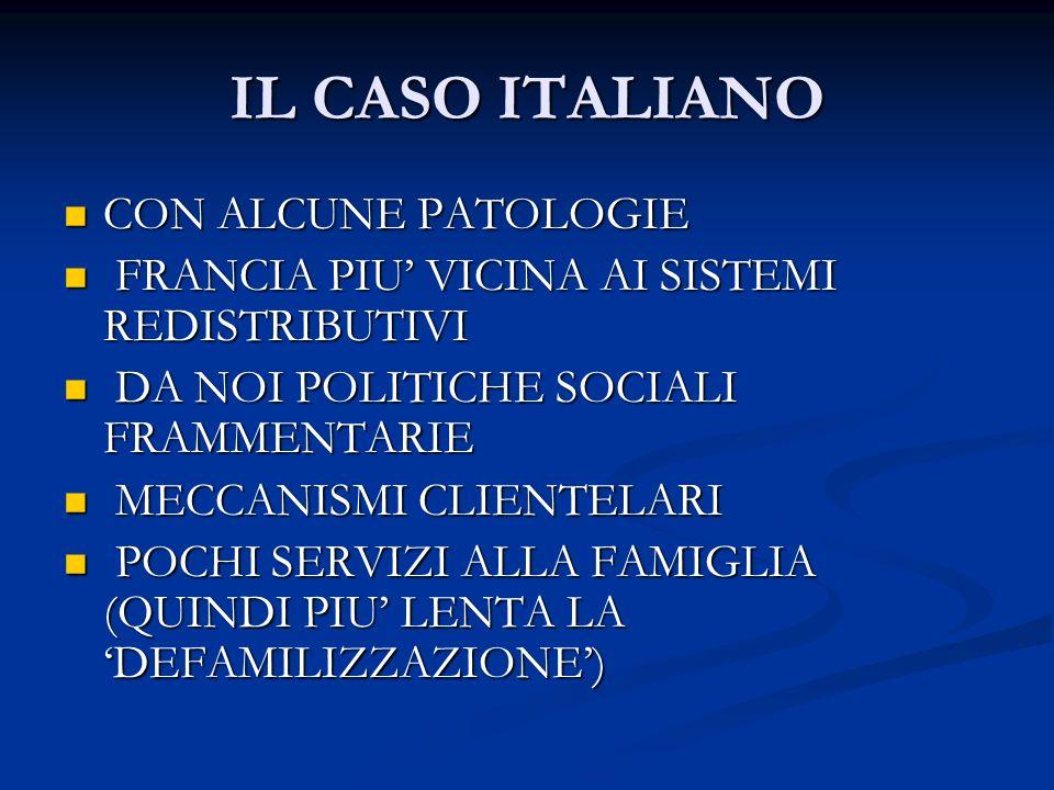 IL CASO ITALIANO CON ALCUNE PATOLOGIE