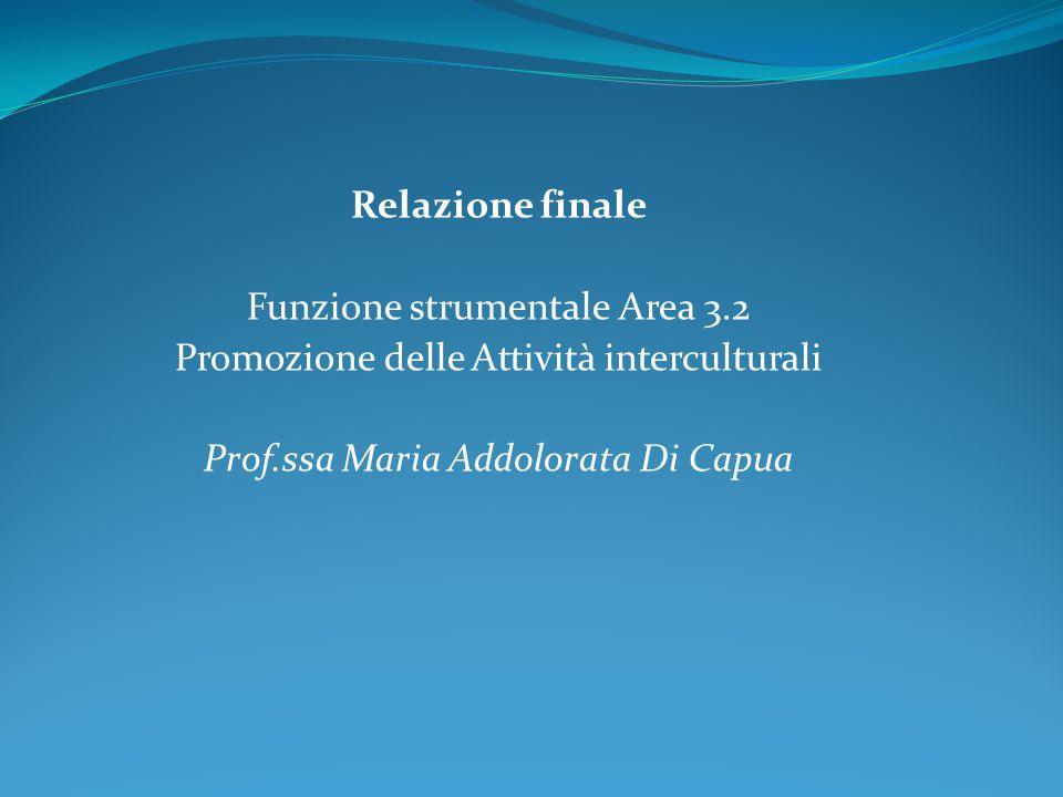Funzione strumentale Area 3.2 Promozione delle Attività interculturali