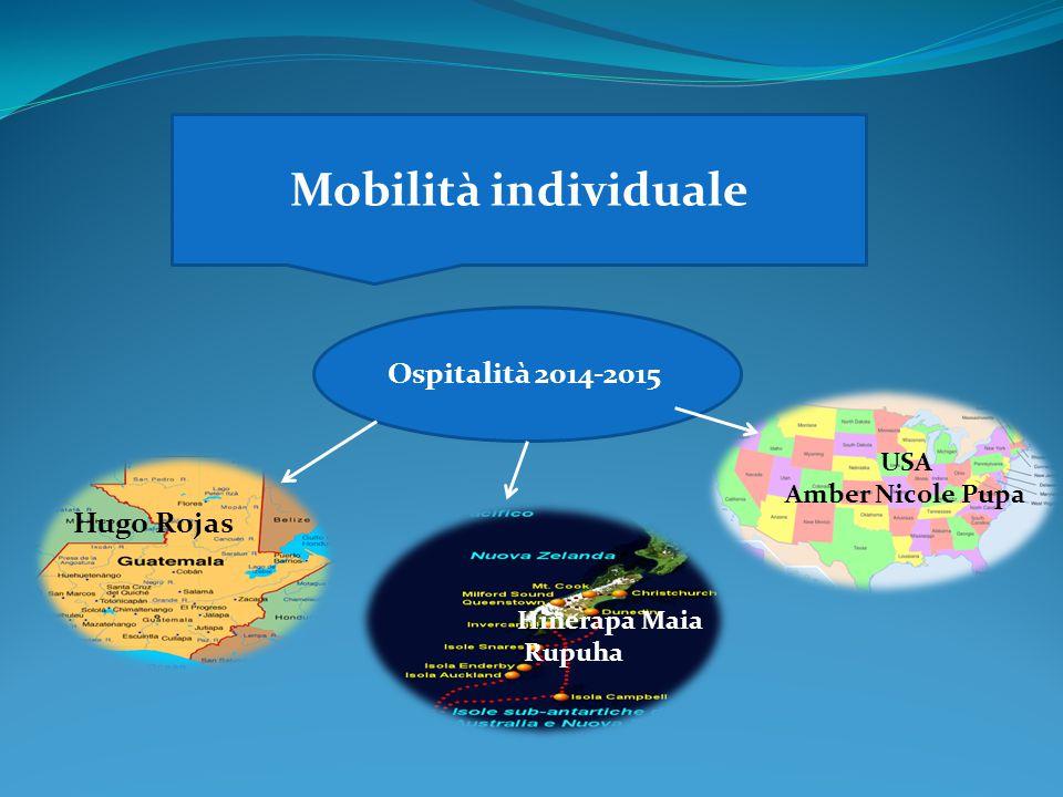 Mobilità individuale Ospitalità 2014-2015 Hugo Rojas USA