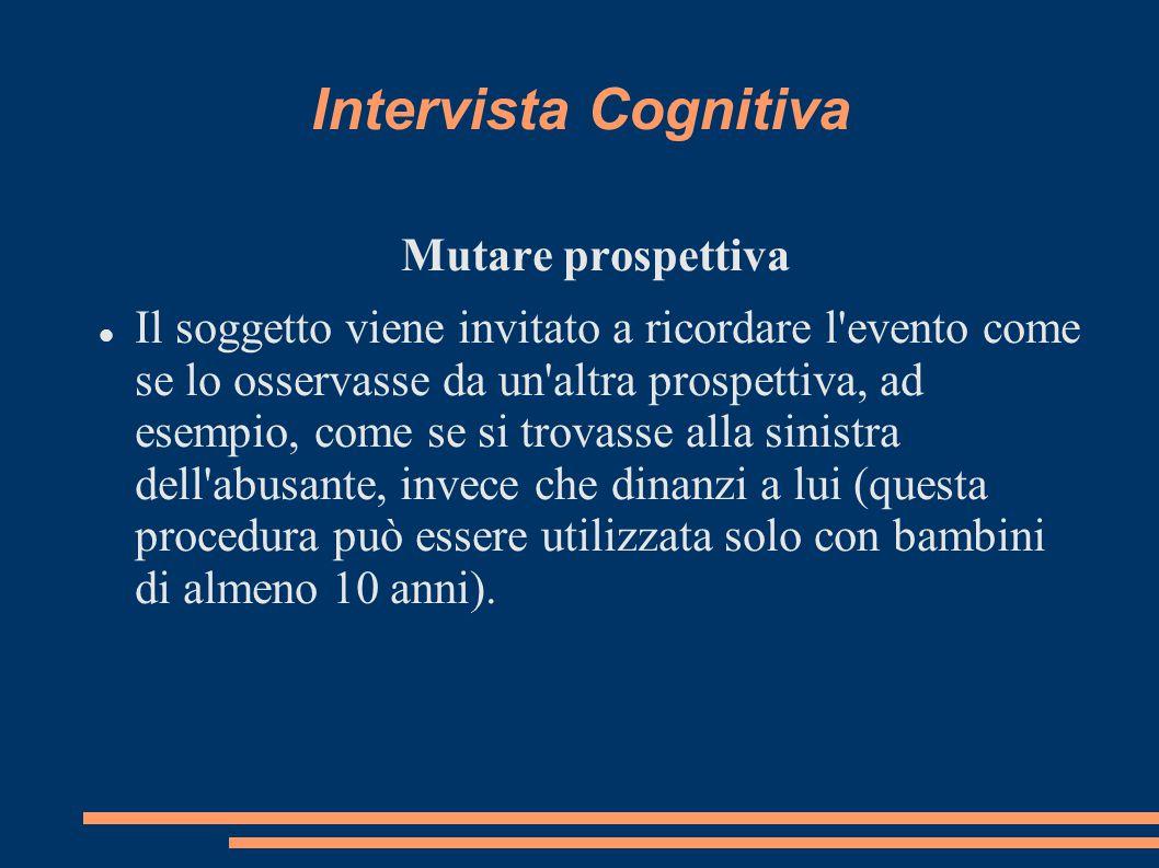 Intervista Cognitiva Mutare prospettiva