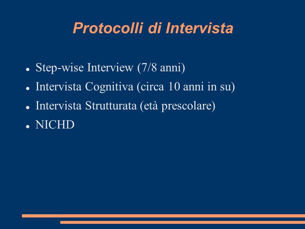 Protocolli di Intervista
